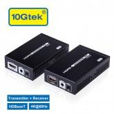 HDMI Extender 4K@60Hz HDBaseT Ethernet Network Extender 328-Ft (100M) over RJ45 CAT6 Cable