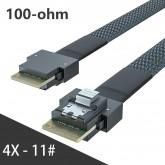 24G Internal SlimSAS SFF-8654 to SFF-8654 4i Cable, SAS 4.0, 100-ohm, 0.5~1 meter