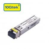 1.25Gb/s BiDi SFP Tx1550/Rx1490nm, 80KM, with DDM