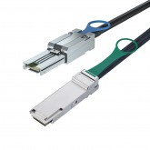 SFF-8088 to QSFP, Hybrid SAS Cable, 0.5~7 meters