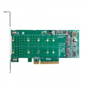 NVMe SSD Adapter Card, PCIe x8, (2) M.2 NVMe connectors