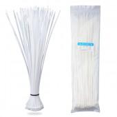 Nylon Zip Ties(100 pcs), 14.6 x 0.18 inch, White, UL Certified