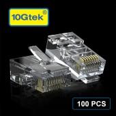 CAT.5E RJ-45 UTP Connectors, RJ-45 Modular Plugs with flexible latch, 100-Pack (Default) #3