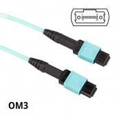 MPO to MPO, Multimode OM3 50/125μm, 24-Core