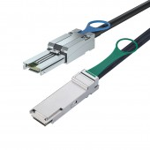 SFF-8088 to QSFP, Hybrid SAS Cable, 0.5~7 meters (SAS Cables)