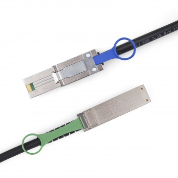 SFF-8088 to QSFP, Hybrid SAS Cable, 0.5~7 meters (SAS Cables) #2