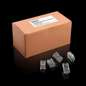 CAT.5E RJ-45 UTP Connectors, RJ-45 Modular Plugs with flexible latch, 100-Pack (Default)