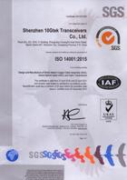 10Gtek IS014001 Certification